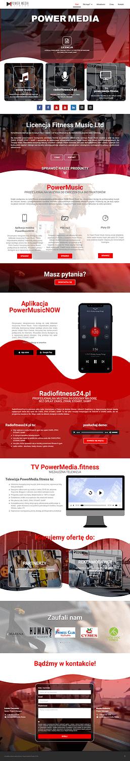 Strona www powermedia.fitness z Wałcza