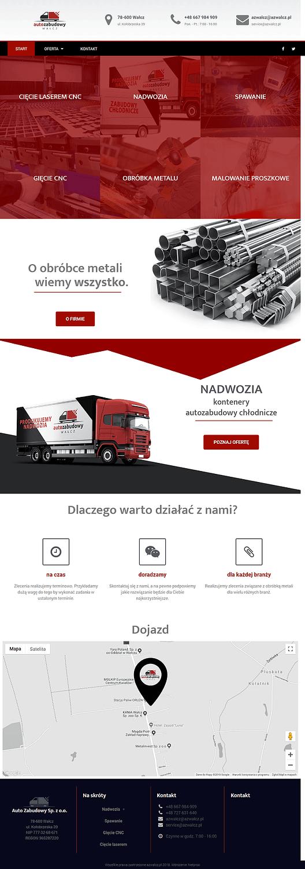 strona internetowa Autozabudowy Wałcz Sp. z o.o.